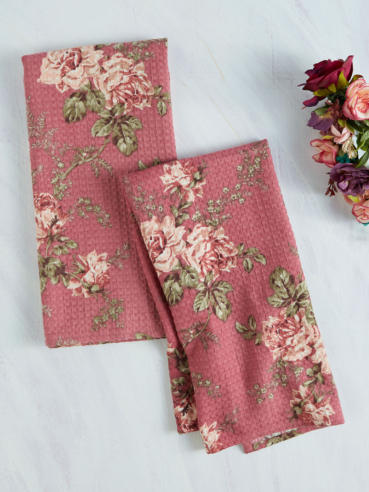 Gloria Rose Tea Towel Set of 2