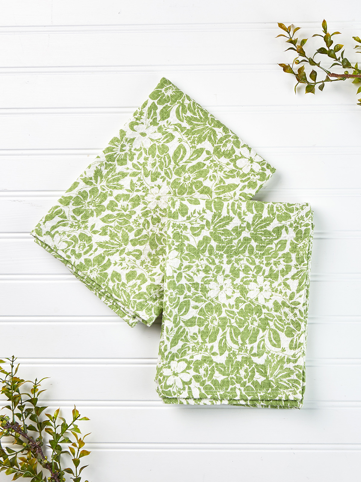 Madison Flower Tea Towel Set of 2