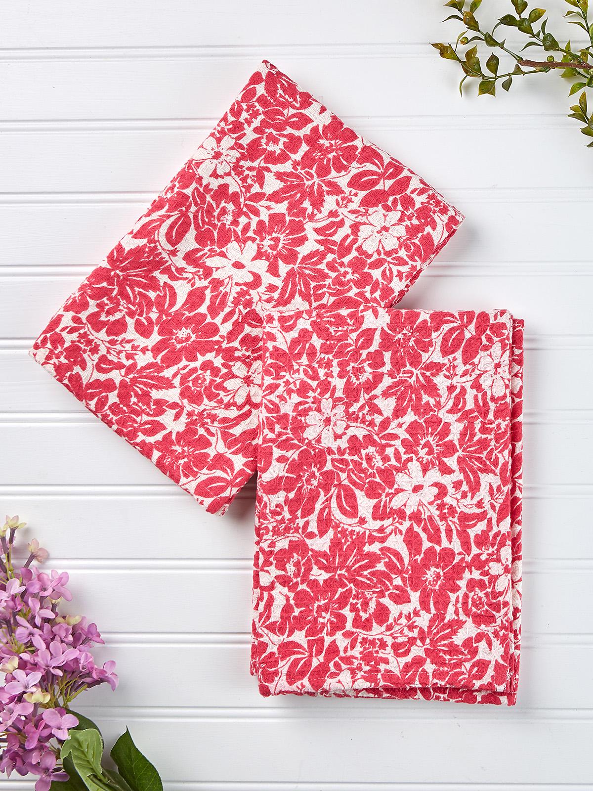 Madison Flower Tea Towel Set of 2