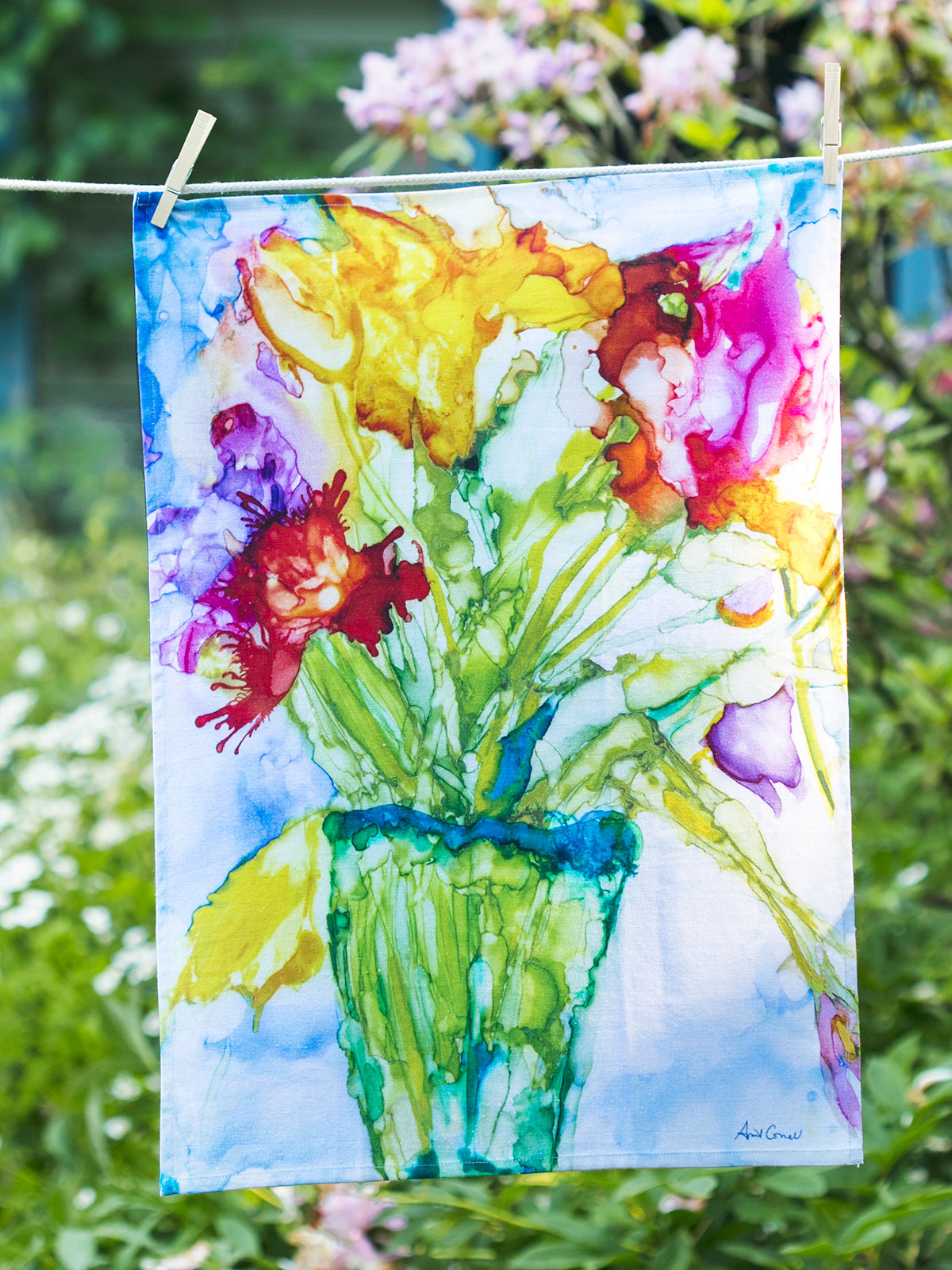 Mosaic Bouquet Tea Towel