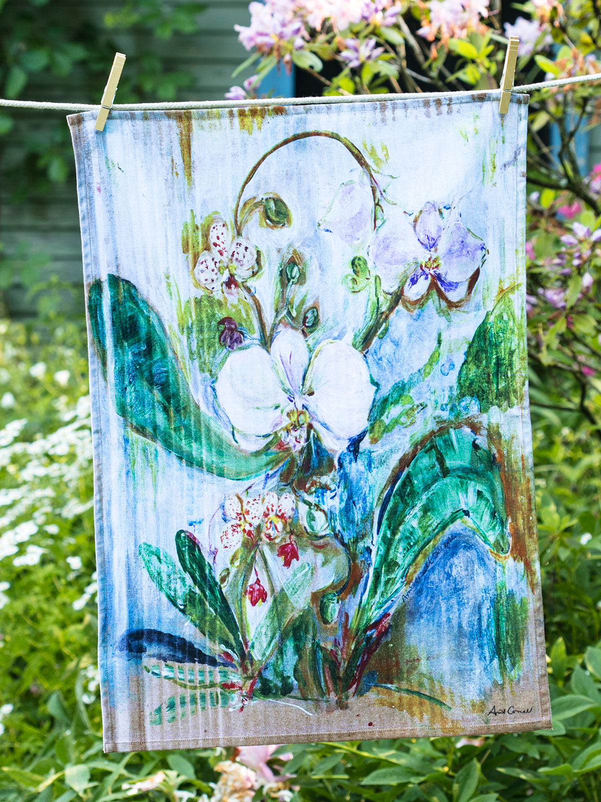 Orchid Study Tea Towel