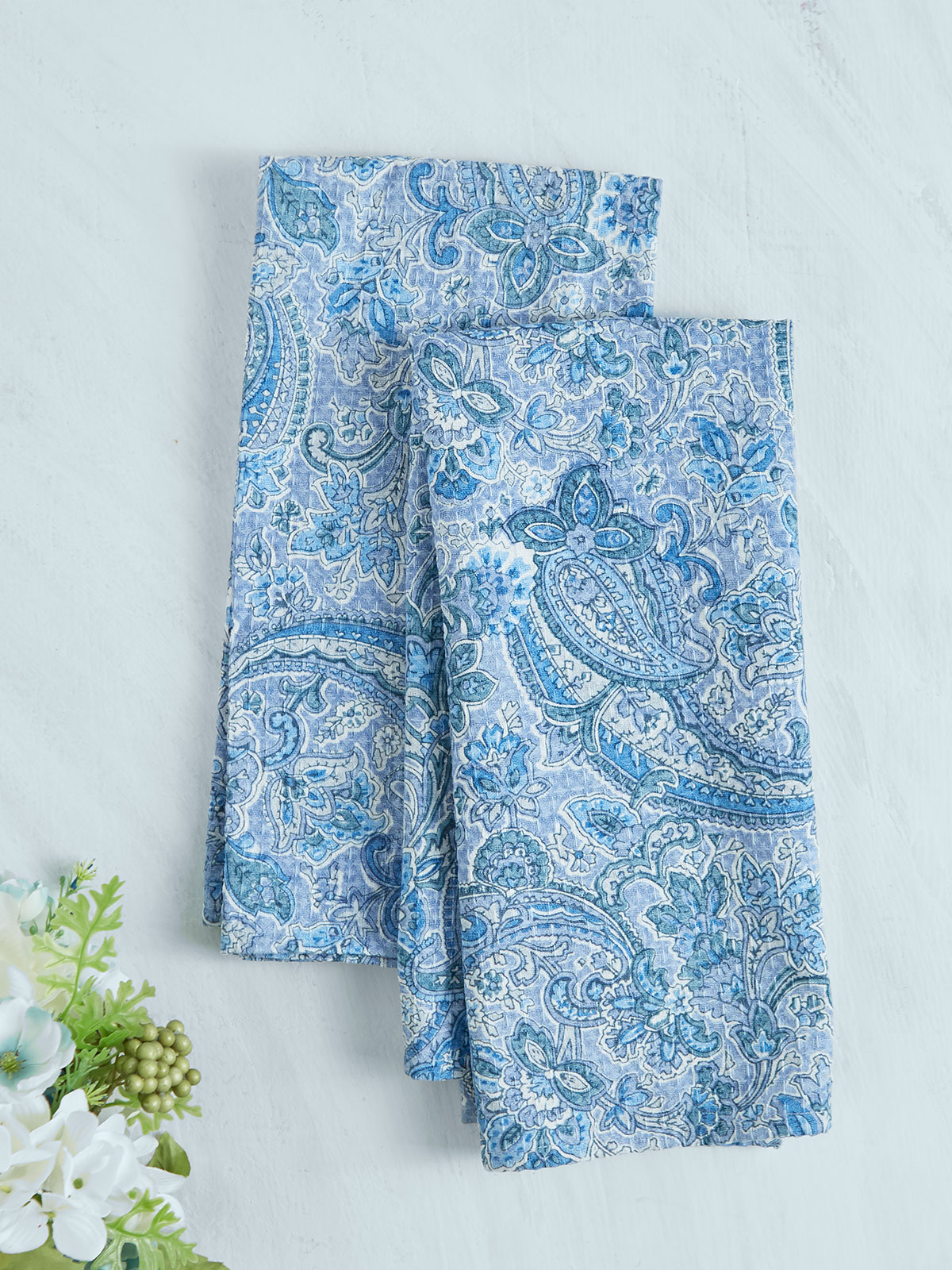 Priscilla's Paisley Tea Towel Set of 2