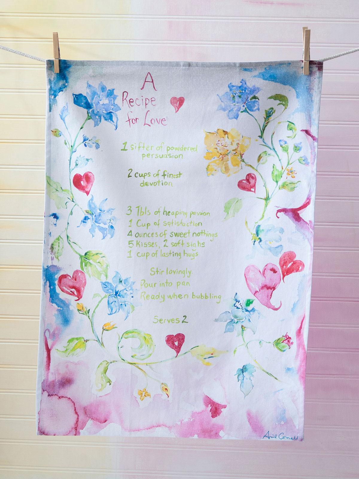 Recipe for Love Tea Towel