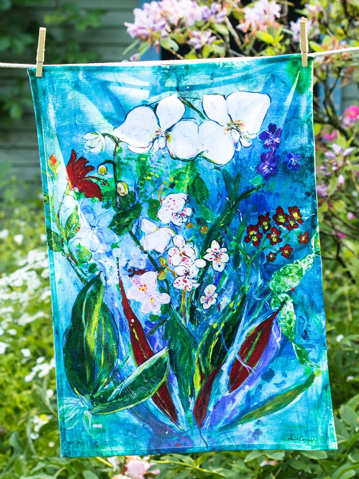 Rainforest Orchid Tea Towel