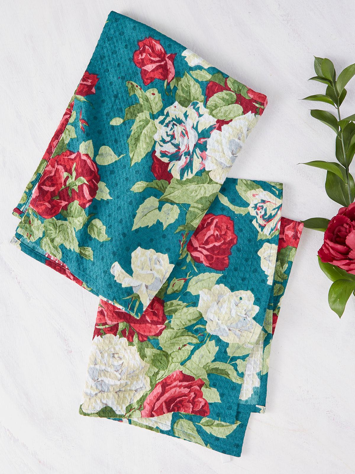 Rose Manor Tea Towel S/2