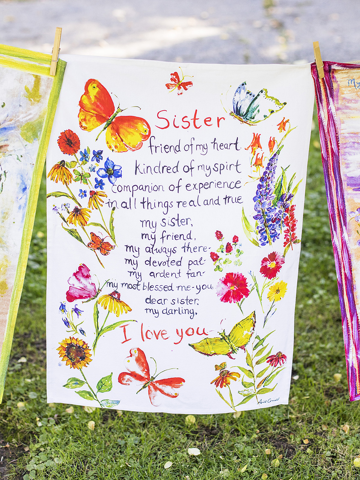 Sister Poem Tea Towel