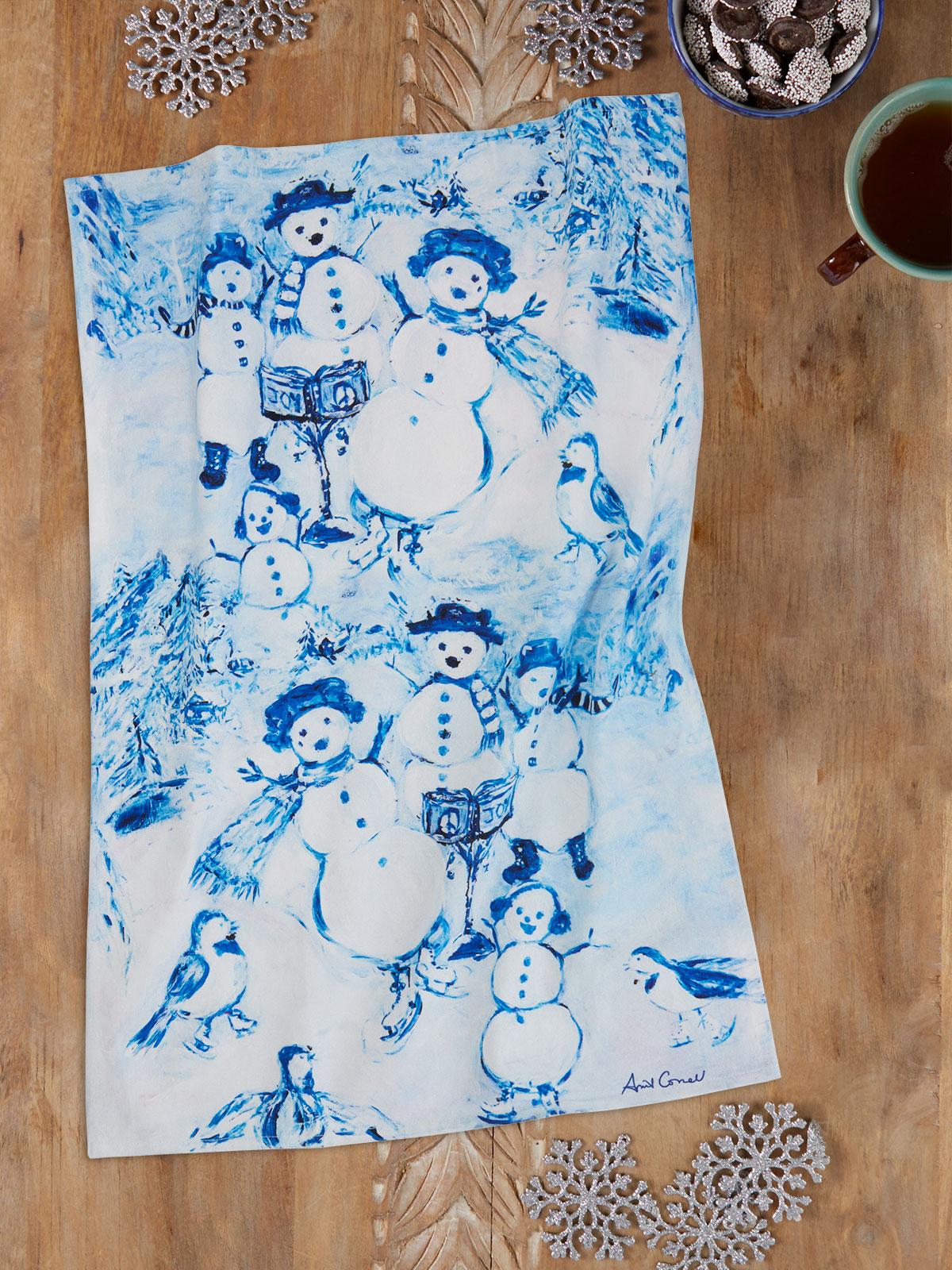 Snowman Tea Towel
