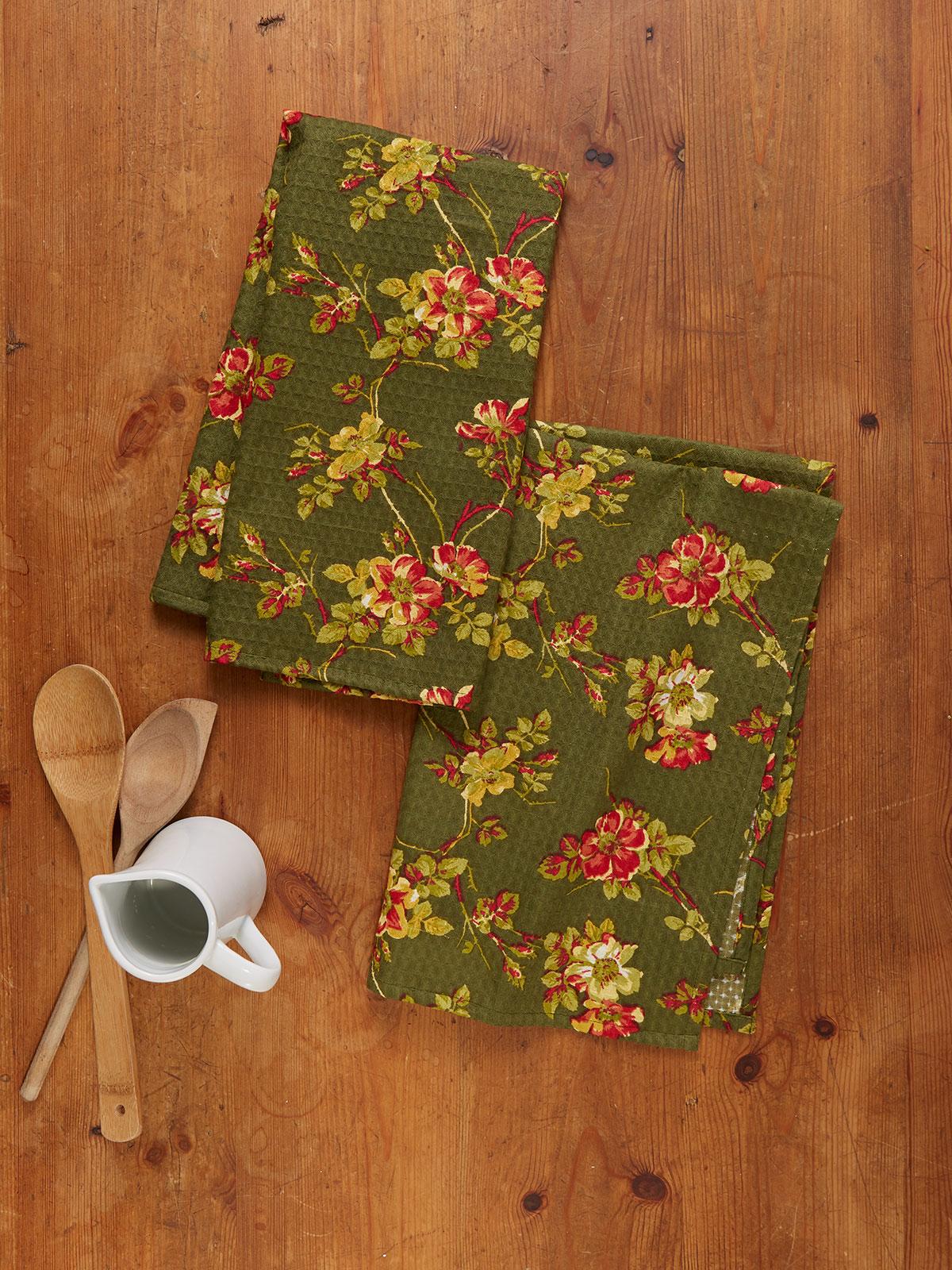 Wild Rose Tea Towel S/2