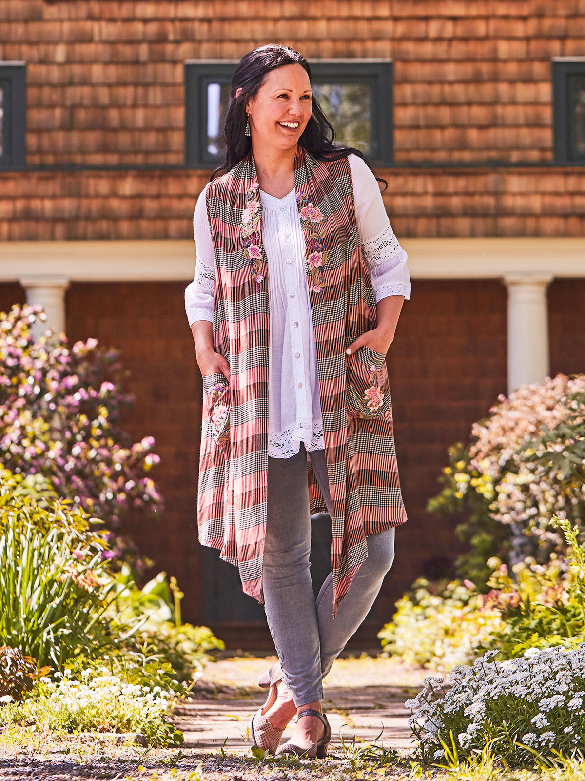 Rosewood Check Vest