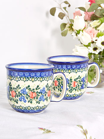 Set of 2 Roses Mugs