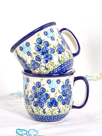Set of 2 Blueberry Mugs