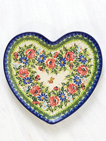 Roses Heart Plate