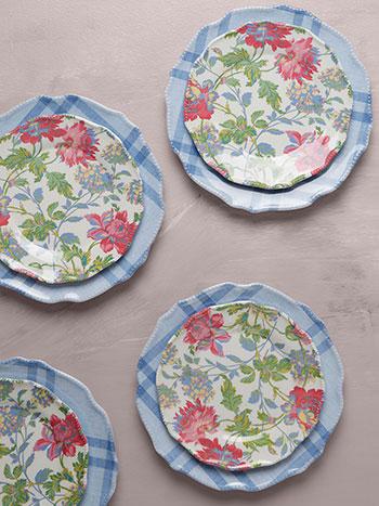 Greta's Garden Melamine Plate Set