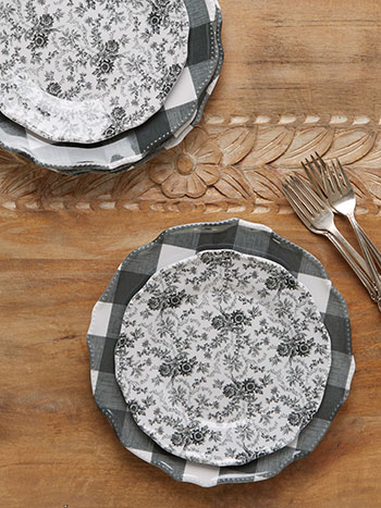 Felicity Melamine Plate Set Kitchen Amp Table Linens Gift