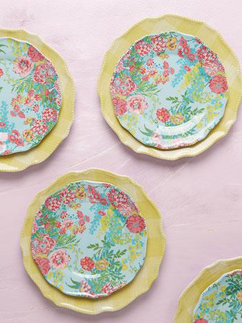 Zinnia Melamine Plate Set