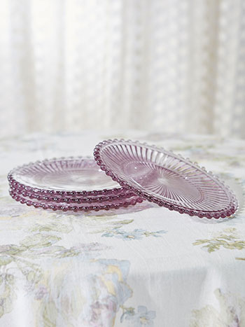 Aurora Glass Plates Set of 4
