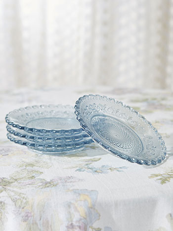 Chantilly Glass Plates Set of 4