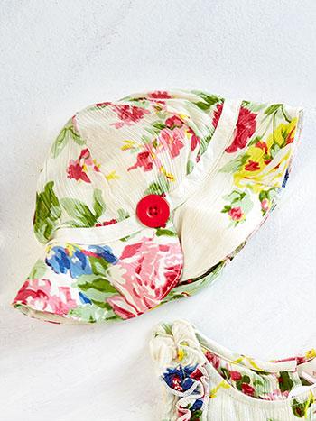 Cottage Rose Baby Cap