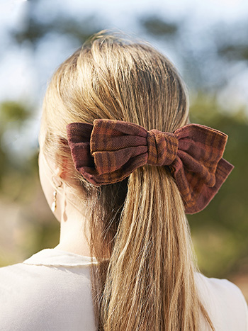 Timber Plaid Bow