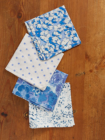 Dreamy Blue Hanky Set