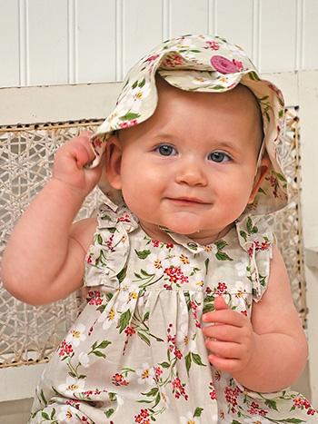 Strawberry Blossom Baby Sunhat