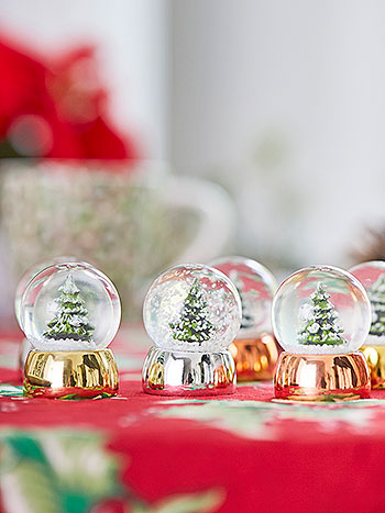 Mini Snow Globes Set of 6
