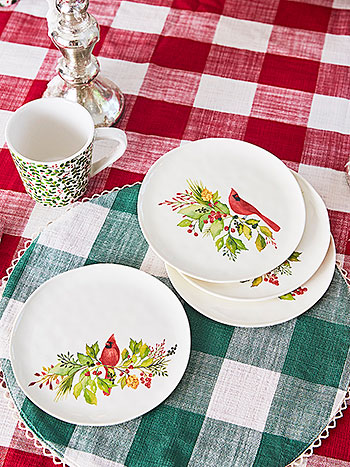 Cardinal Melamine Appetizer Plate Set of 4