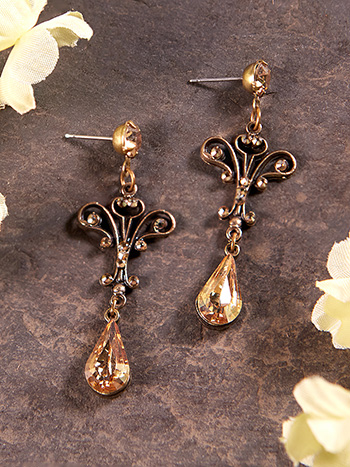 Ellie Golden Shadow Earrings