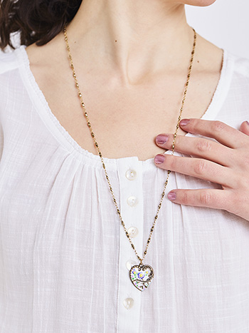 Jill's Garden Heart Necklace
