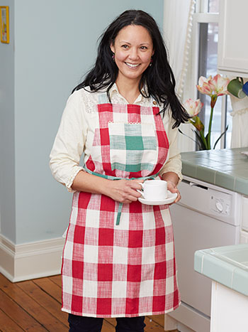 Cottage Check Apron