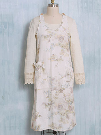 Victorian Rose Farmhouse Apron