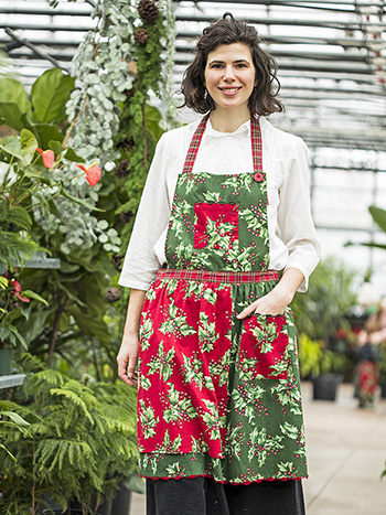 Holly Patchwork Apron