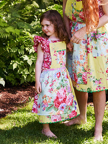 Garden Patchwork Kids Apron