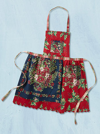 Joyful Patchwork Kids Apron