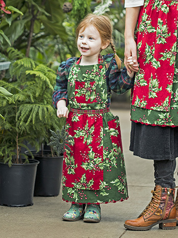 Holly Patchwork Kids Apron
