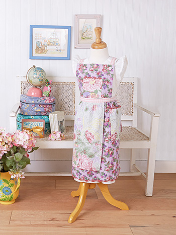 Tea Garden Patchwork Kids Apron