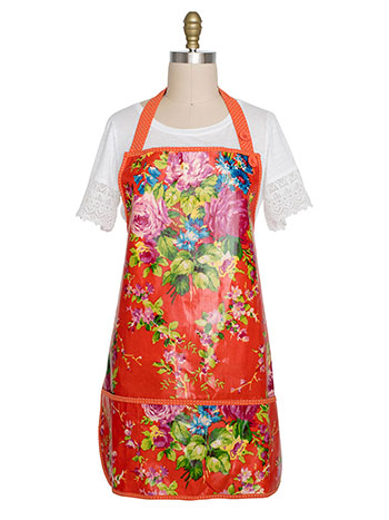 Cottage Rose Adult Short Apron