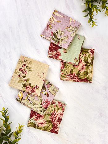 Cottage Core Patchwork Tiny Towel Bundle