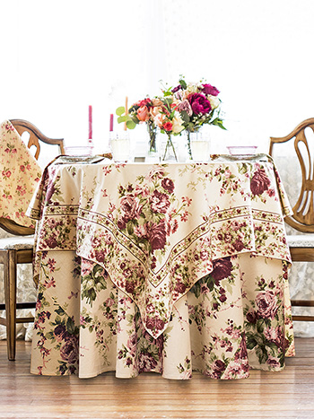Cottage Rose Table Setting