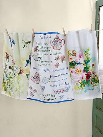 Garden Party Watercolor Tea Towel Bundle