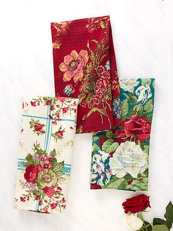 Jewel Patchwork Tea Towel Bundle