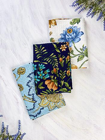 Winter Provence Patchwork Tea Towel Bundle