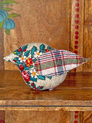 Belle Vue Patchwork Bird Pin Cushion