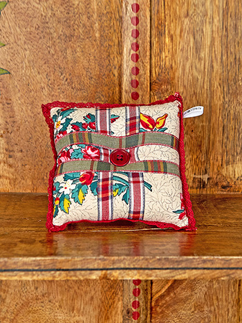 Belle Vue Patchwork Square Pin Cushion
