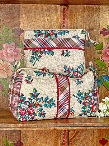 Belle Vue Patchwork Cosmetic Bag Bundle