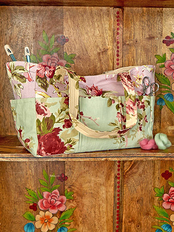 Cottage Core Patchwork Carry it All Tote
