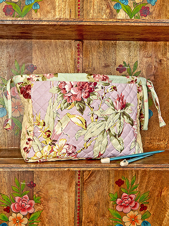 Cottage Core Patchwork Knitters Bag