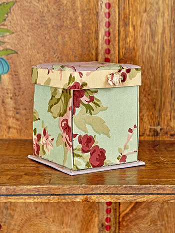 Cottage Core Patchwork Magic Craft Box