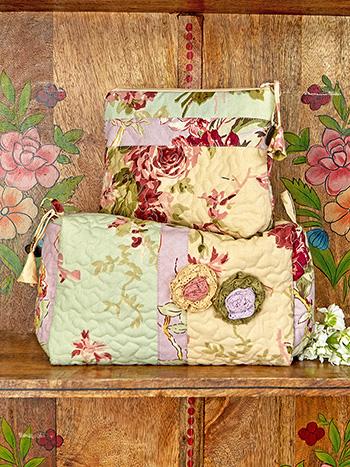 Cottage Core Patchwork Cosmetic Bag Bundle