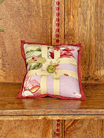 Cottage Core Patchwork Square Pin Cushion